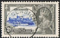 Ascension SG32 1935 Silver Jubilee 2d fine used